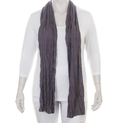 Grijze katoenen kreuk shawl