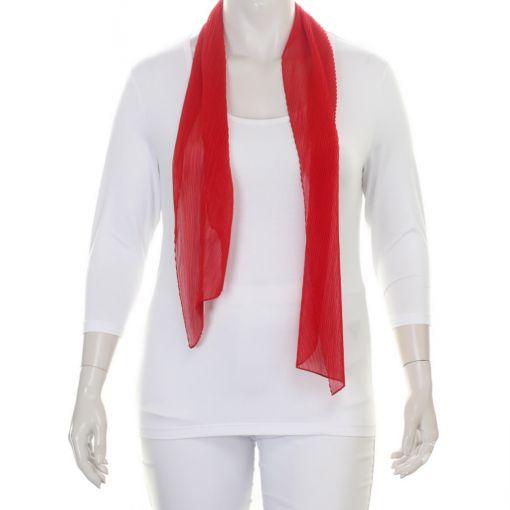 Rode geplooide shawl