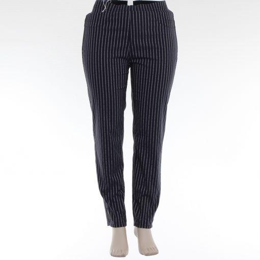 Relaxed by Toni 7/8e twee zijden draagbaar blauwe print en streepbroek