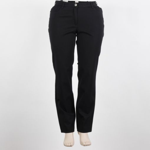 Stark broek zwart recht model stretch F-Selma