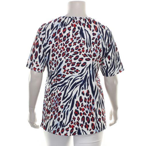 Laurie paarsblauwe smal aansluitende stretch broek model Sanna
