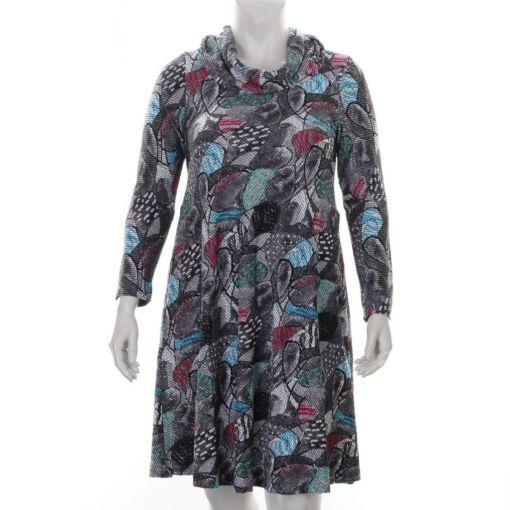 Aïno grijze jurk met print