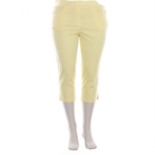 Adelina gele capri broek pull on model