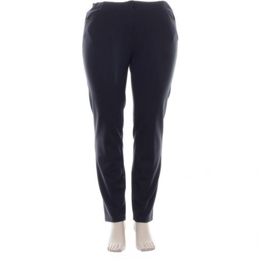 Adelina blauwe pantalon met zakken