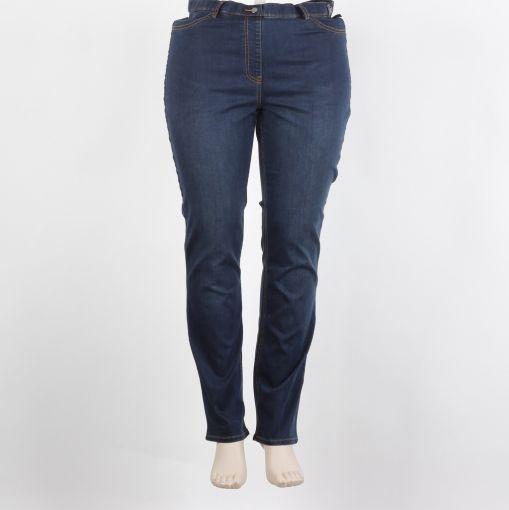 Adelina blauwe jeans recht model