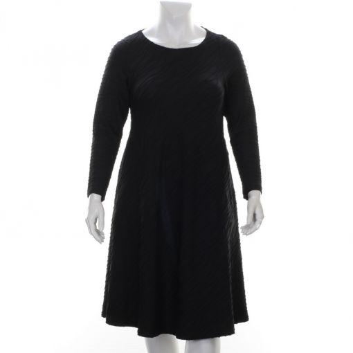 Aíno jurk zwart relief stof