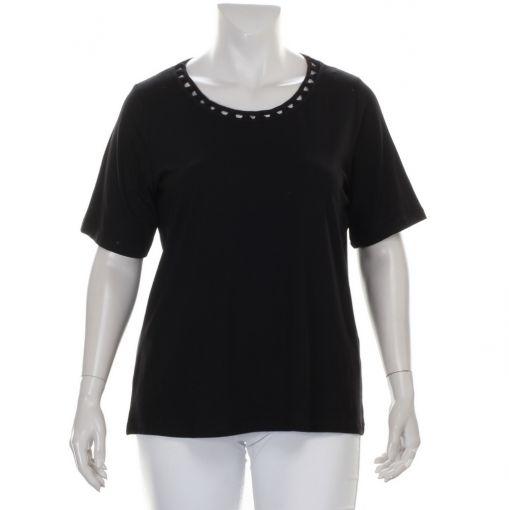 SeeYou zwart shirt met mooie halslijn