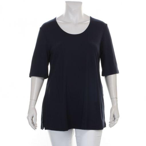 Sempre Piu blauw A-lijn shirt