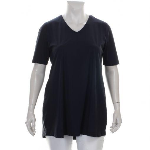 Plus Basics blauw shirt A-lijn