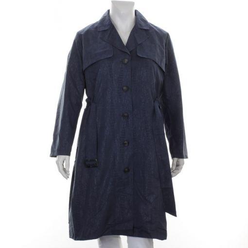Ciso blauwe gevoerde jas