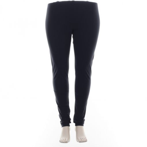 Plus Basics blauwe legging travelstof