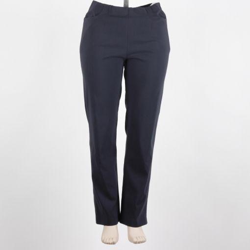 Mona Lisa model Babsi donkerblauwe pantalon hoge taille