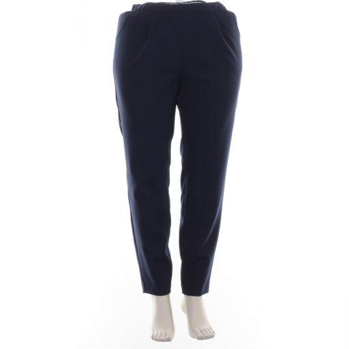 Verpass blauwe comfortbroek met zakken