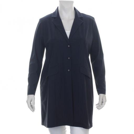 Plus Basics lange blauwe blazer