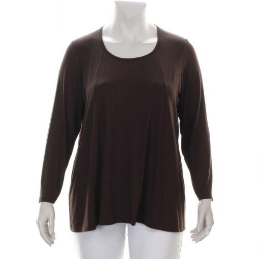 Q'neel donkerbruin shirt met A-lijn