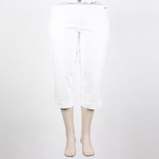 Broek katoen wit 7/8e lengte normaal bovenbeen merk Laurie