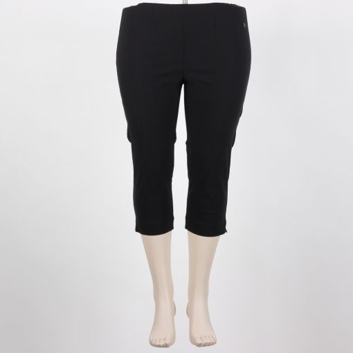 Capri 7/8e zwarte aansluitende broek met stretch model Sanna merk Laurie