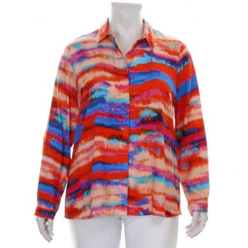 Chalou kleurrijke blouse met ecolineprint