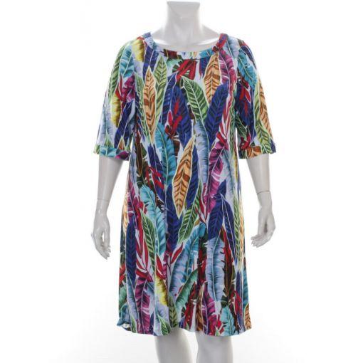 Chris Size jurk met kleurrijke bladprint