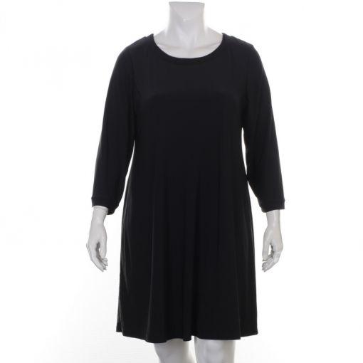 Chris Size zwarte gevoerde jurk