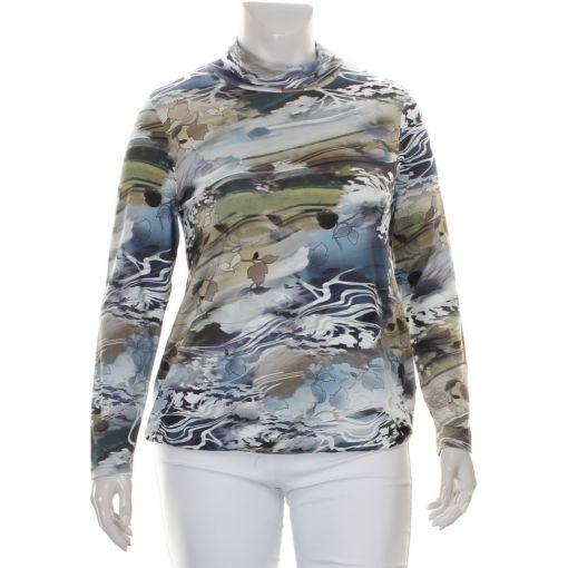 Signature divers gekleurd shirt met bladprint