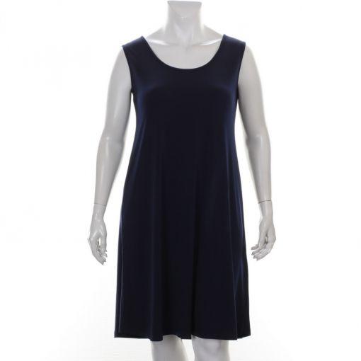 Yoek blauwe mouwloze jurk