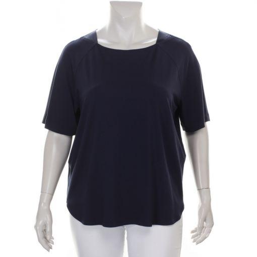Verpass blauw shirt met satijn details