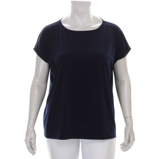 Yoek blauw basis shirt Dolce stof