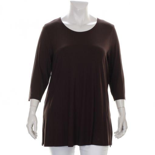 Verpass bruin tricot shirt met ronde hals