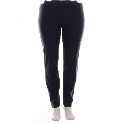 Doris Streich donkerblauwe pantalon extra smal bovenbeen