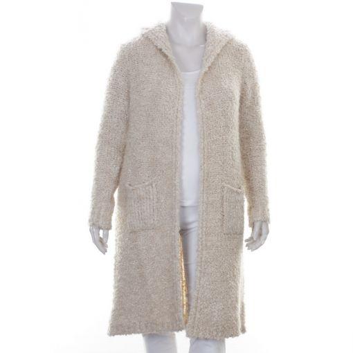 White label gemeleerd ecru boucle vest