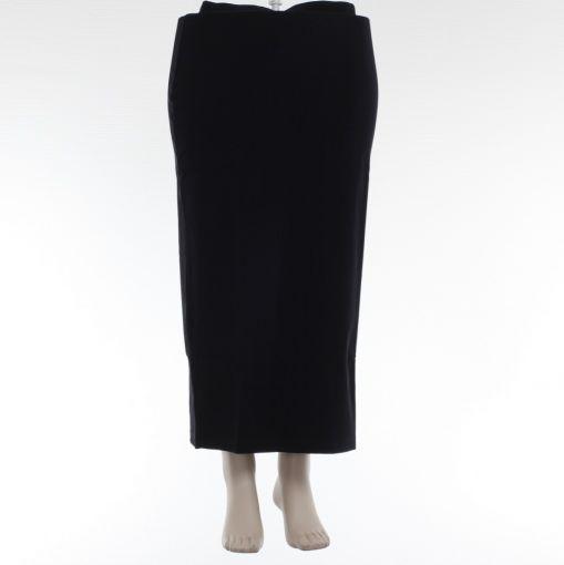 Elbi donkerblauwe lange stretch rok recht model met split