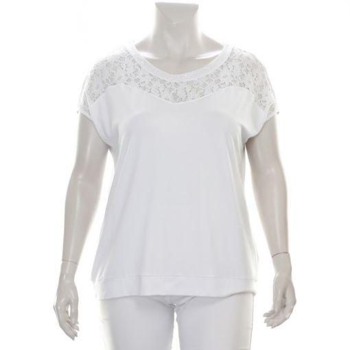 Erfo wit shirt met kant en studs