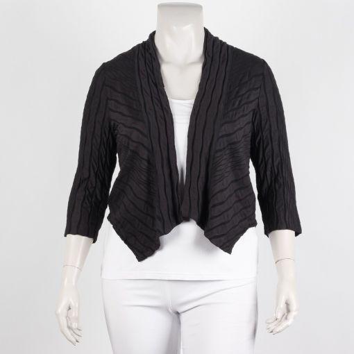 Vetono antraciet zwart print vest