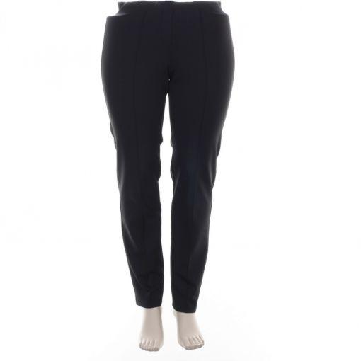 KJ Brand Exquisite broek donkergrijs zwarte print model Jenny