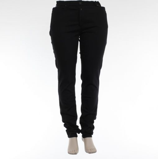 Laurie zwarte slim fit broek extra lang model Rebecca