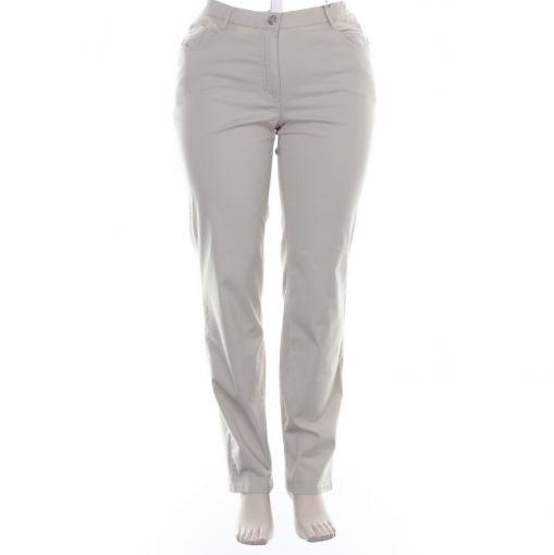 Stark rechte zandkleurige broek F-Selma Hyper