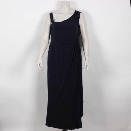 Kirsten Krog donkerblauwe lange jurk