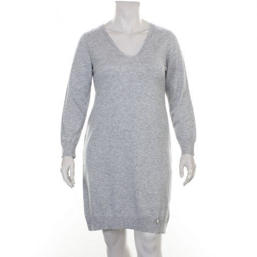Twister grijs gemeleerde jurk