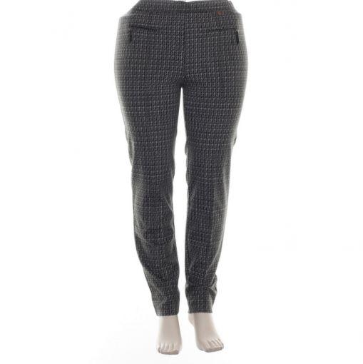 Relaxed by Toni pantalon met zwart wit bruine print model Alice