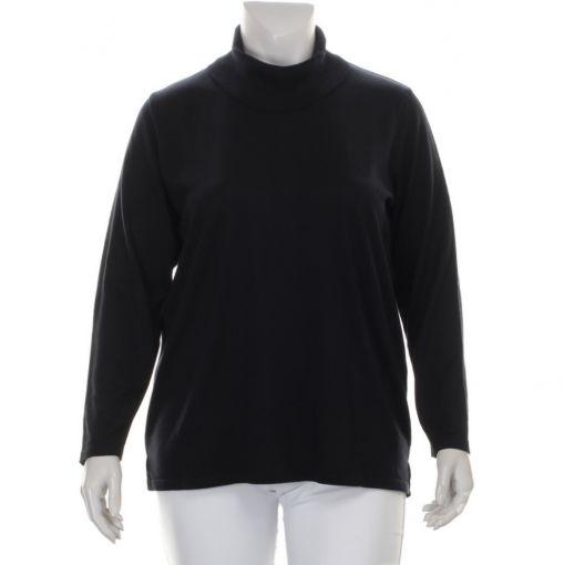 Netwalk zwarte pullover met colletje