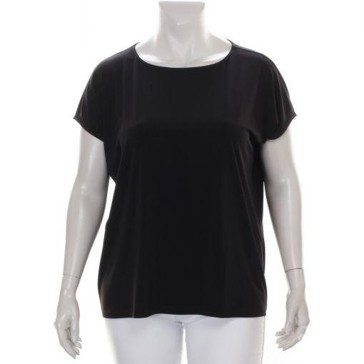 Yoek zwart basis shirt Dolce stof