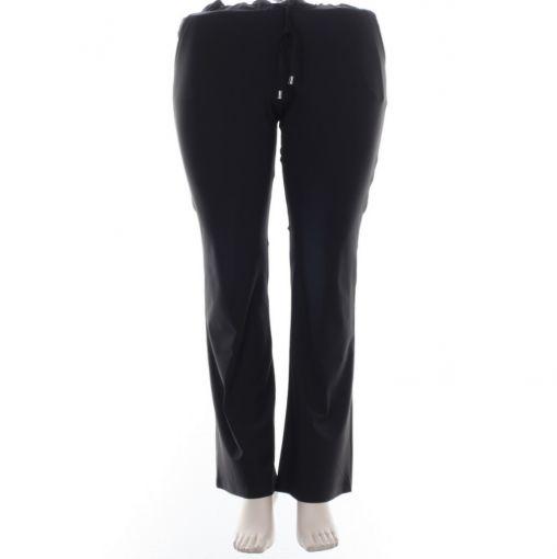 Only-M zwarte broek met wijder uitlopende pijpen