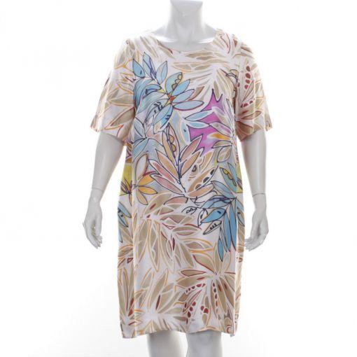 Erfo roze jurk met kleurrijk print