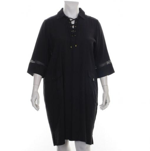 Yesta zwarte jurk met zakken