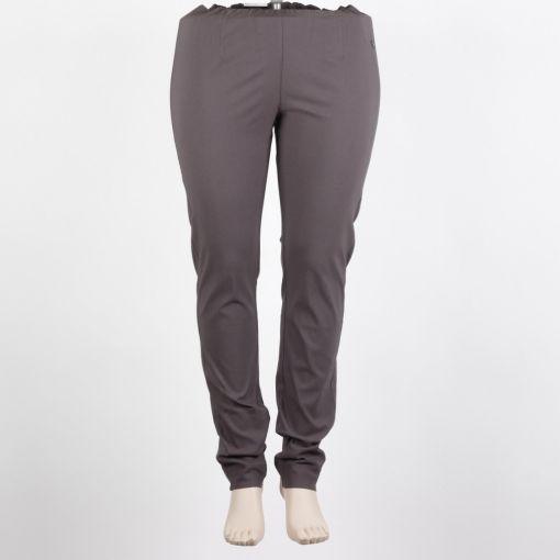 LauRie donker grijze stretch broek smal aansluitend model Sanna