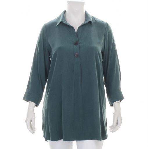 Ciso groen gemeleerde blouse