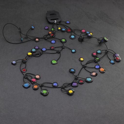 Handgemaakte bijzondere gekleurde lange ketting