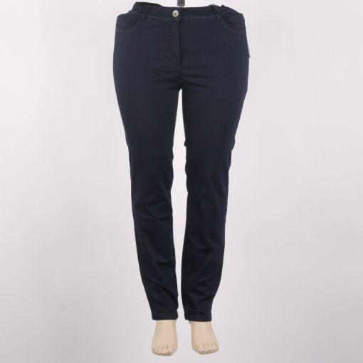 Donkerblauwe super stretch broek merk Samoon
