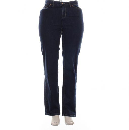 Yesta donkerblauwe spijkerbroek recht model